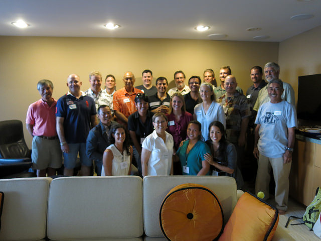 Class XV and alum hosted by the Ching-Bittenbender family